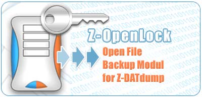 Open File Backup module for Z-DBackup - Backup of MS SQL - and MS Exchange - Databases